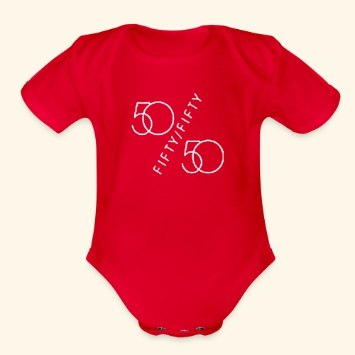 Fifty Fifty - Organic Short Sleeve Baby Bodysuit