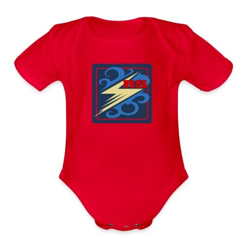 Rimps Logo Flash - Organic Short Sleeve Baby Bodysuit