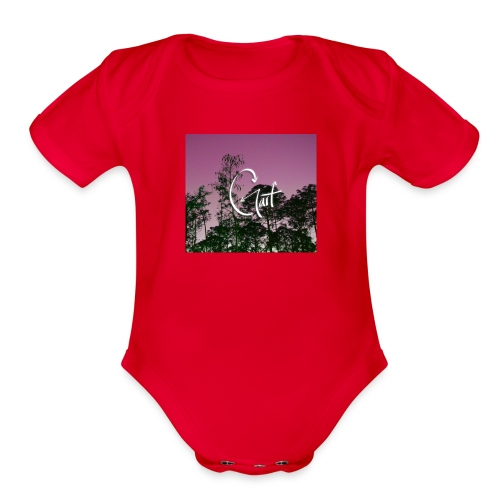 Pink Forest Gart - Organic Short Sleeve Baby Bodysuit