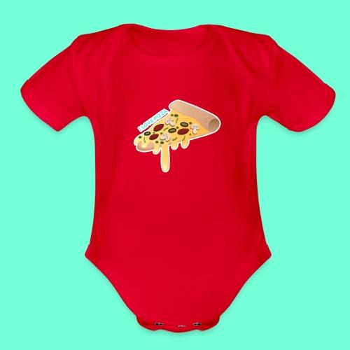 I LOVE PIZZA! - Organic Short Sleeve Baby Bodysuit