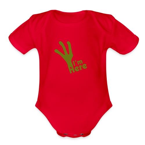 I'M Here - Organic Short Sleeve Baby Bodysuit