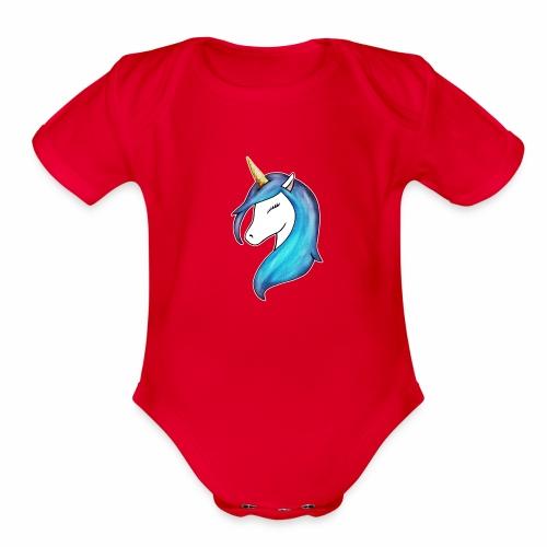 Be a Unicorn - Organic Short Sleeve Baby Bodysuit