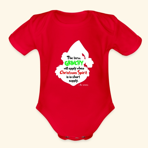 The Term Grinchy - Organic Short Sleeve Baby Bodysuit
