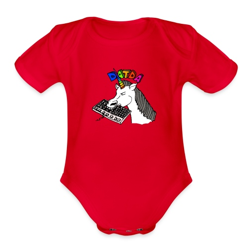 Sir Charles Bitcorn the NightTerror - Organic Short Sleeve Baby Bodysuit