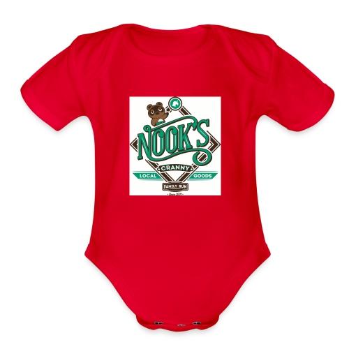 Nook's Cranny - Organic Short Sleeve Baby Bodysuit