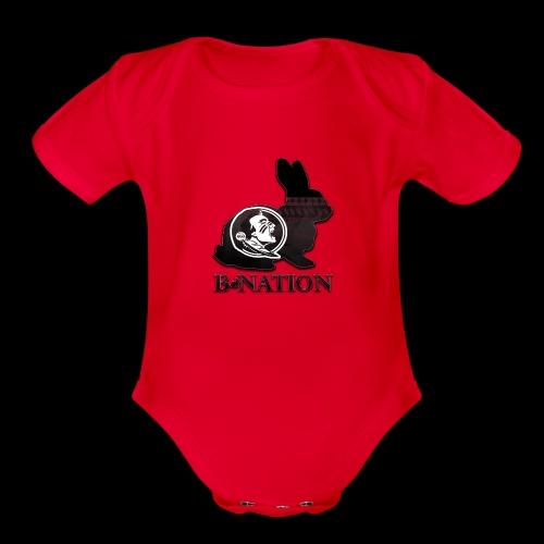 FSU Bunny - Organic Short Sleeve Baby Bodysuit