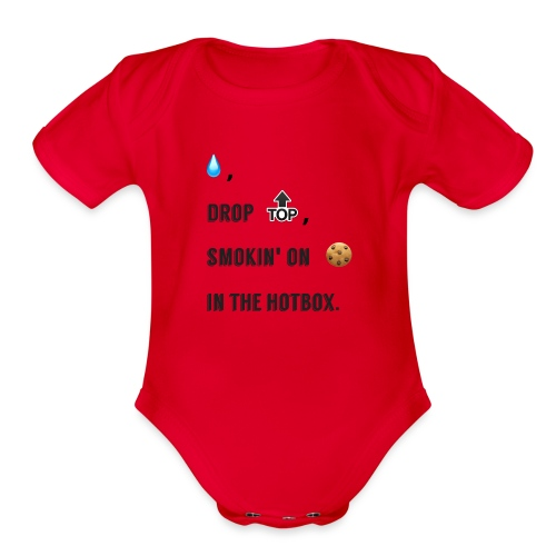 Raindrop - Organic Short Sleeve Baby Bodysuit