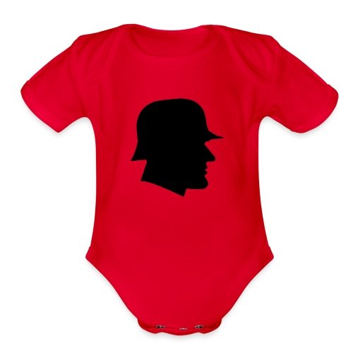 Soldier silhouette - Organic Short Sleeve Baby Bodysuit