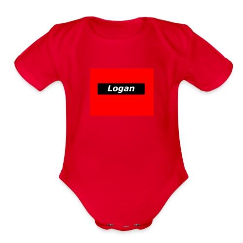 LoganRed Original - Organic Short Sleeve Baby Bodysuit