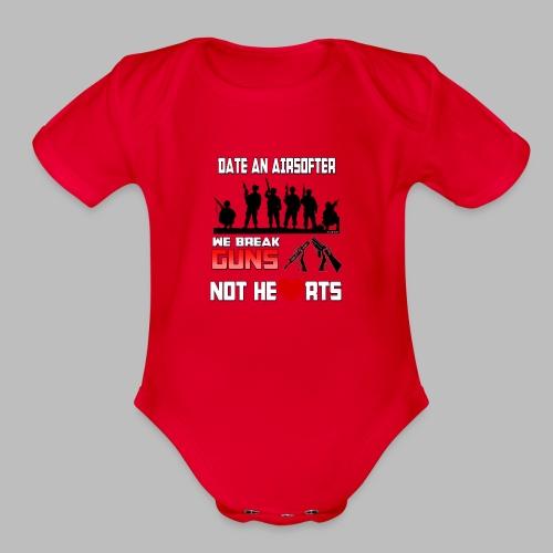 Funny! - Organic Short Sleeve Baby Bodysuit