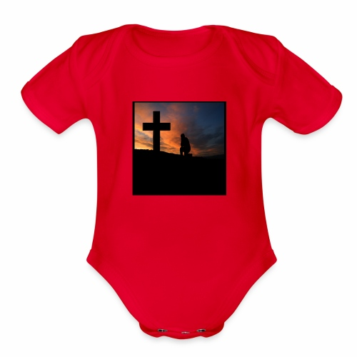 Always Pray - Organic Short Sleeve Baby Bodysuit