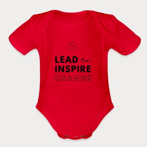 Lead. Inspire. Change. - Organic Short Sleeve Baby Bodysuit
