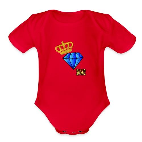 Sagaz diamante - Organic Short Sleeve Baby Bodysuit