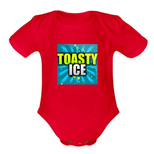 ToastyIce Logo - Organic Short Sleeve Baby Bodysuit