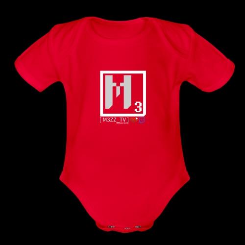 M3ZZ TV SOCIAL NETWORKS LIGHT - Organic Short Sleeve Baby Bodysuit