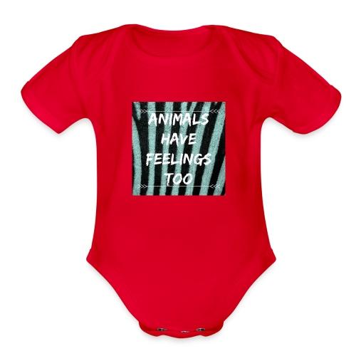ANIMALS - Organic Short Sleeve Baby Bodysuit