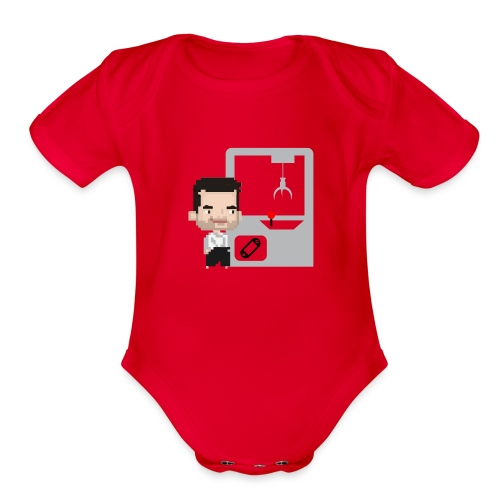 Ufo catch - Organic Short Sleeve Baby Bodysuit