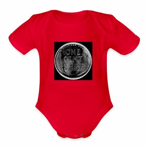 wheat back - Organic Short Sleeve Baby Bodysuit