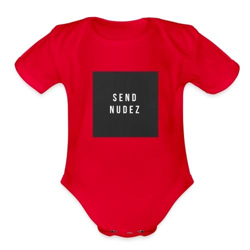 SendNudez - Organic Short Sleeve Baby Bodysuit