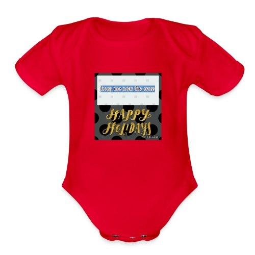 keel me near the cross poster - Organic Short Sleeve Baby Bodysuit