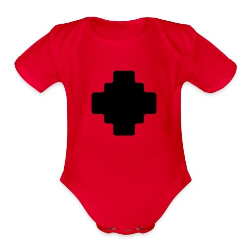 Shaman symbol - Organic Short Sleeve Baby Bodysuit