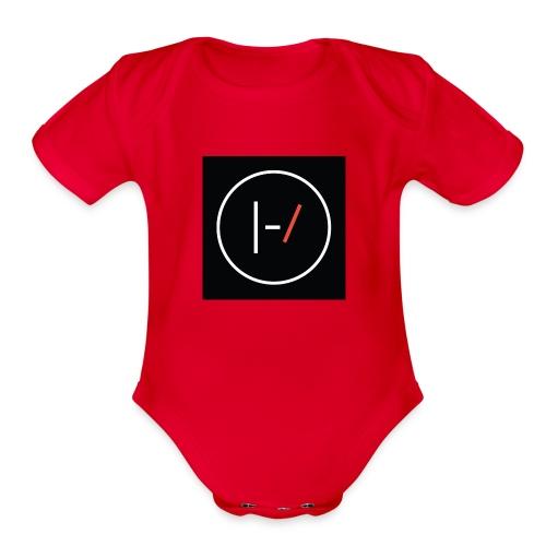 Twenty one pilots Blurryface pin - Organic Short Sleeve Baby Bodysuit