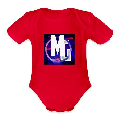 MoneyGamer Logo - Organic Short Sleeve Baby Bodysuit