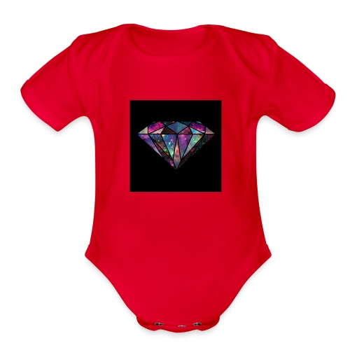 Diamondfashion - Organic Short Sleeve Baby Bodysuit