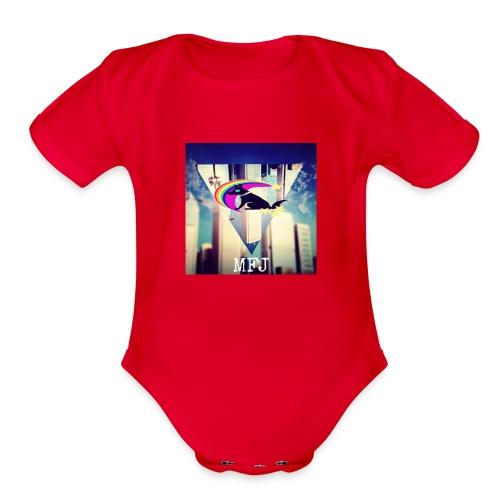 MagicolFlapJackal - Organic Short Sleeve Baby Bodysuit