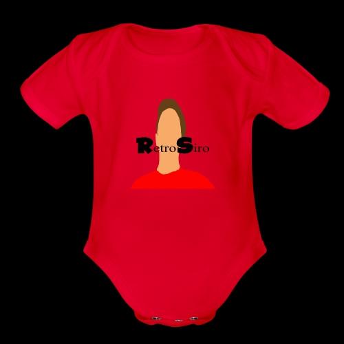RetroSiro face - Organic Short Sleeve Baby Bodysuit