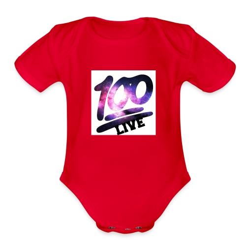 living 100 - Organic Short Sleeve Baby Bodysuit