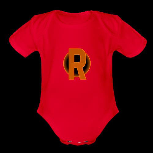cmdr rithwald logo - Organic Short Sleeve Baby Bodysuit