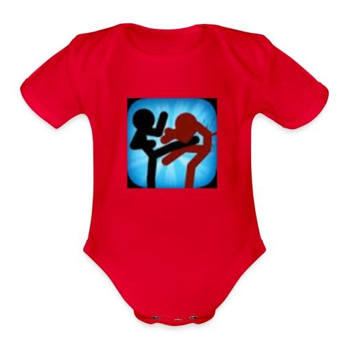 RedKix LOGO - Organic Short Sleeve Baby Bodysuit