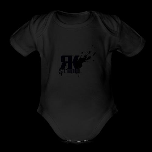 RKStudio Black Version - Organic Short Sleeve Baby Bodysuit