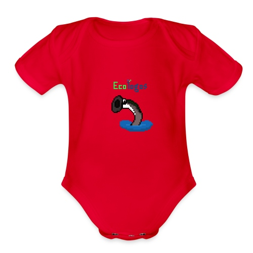 Pixel Sea Lamprey - Organic Short Sleeve Baby Bodysuit