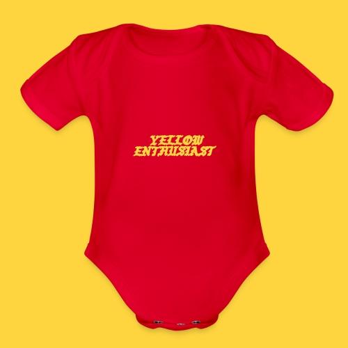 yellow enthusiast - Organic Short Sleeve Baby Bodysuit