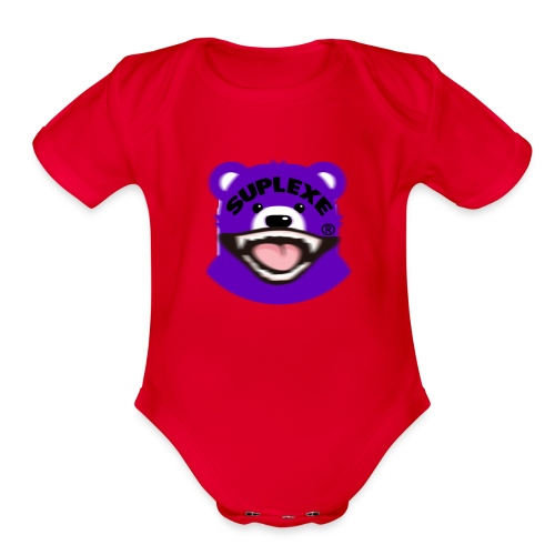 PURPLE {BLUR} BE@R x BADGER TEE - Organic Short Sleeve Baby Bodysuit
