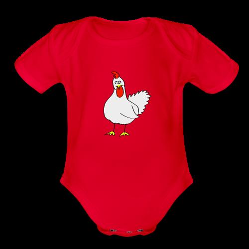 Chicken Surprise!! - Organic Short Sleeve Baby Bodysuit