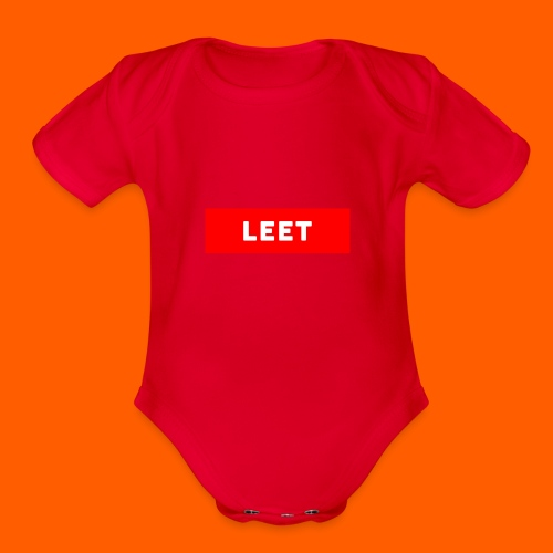 LIMITED EDITION LEET MERCH - Organic Short Sleeve Baby Bodysuit