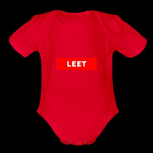 LIMITED EDITION LEET MERCH - Organic Short Sleeve Baby Bodysuit