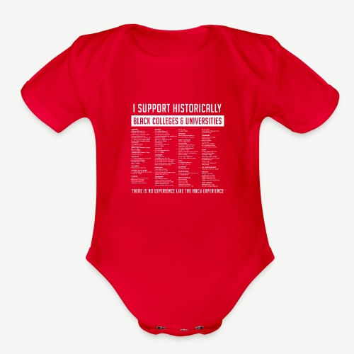 Support HBCUs List - Organic Short Sleeve Baby Bodysuit