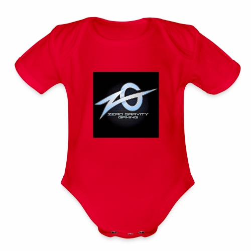 zeroGamingGRAVITY logol - Organic Short Sleeve Baby Bodysuit