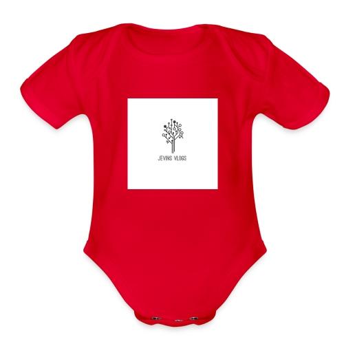 Jevins Vlogs - Organic Short Sleeve Baby Bodysuit
