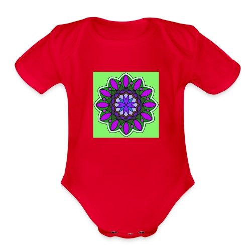 flower of love - Organic Short Sleeve Baby Bodysuit
