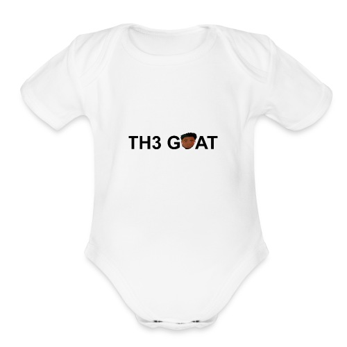 The goat cartoon - Organic Short Sleeve Baby Bodysuit