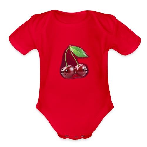Cherry Bombs - Organic Short Sleeve Baby Bodysuit