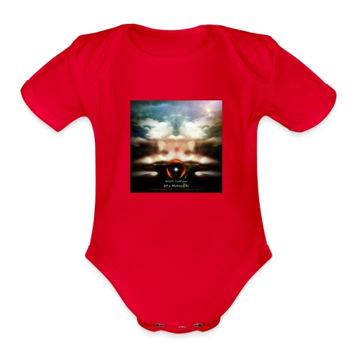 Abstract 11, In My Series - Organic Short Sleeve Baby Bodysuit