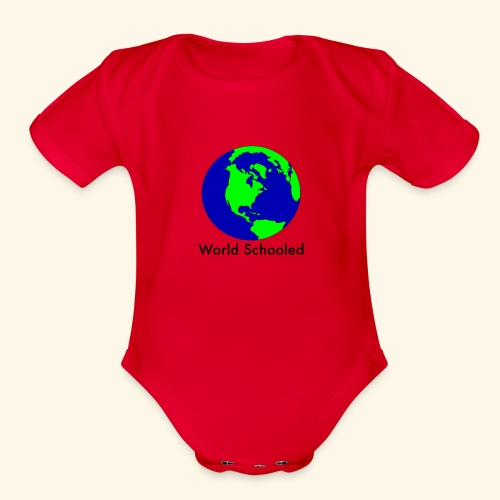 World Schooled - Organic Short Sleeve Baby Bodysuit