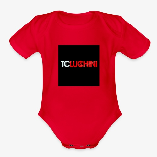 TC LUCHINI LOGO - Organic Short Sleeve Baby Bodysuit