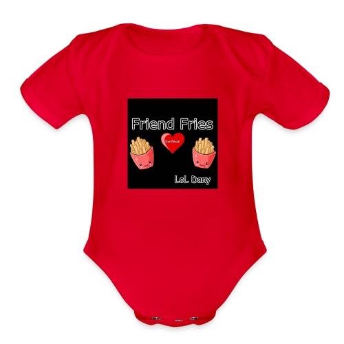 Friend Fries - Organic Short Sleeve Baby Bodysuit